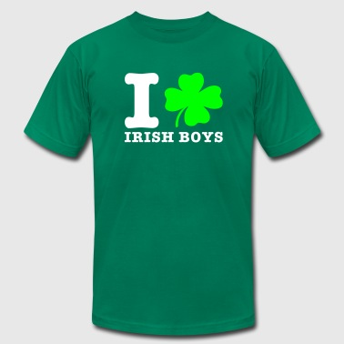 i love irish boys - Men's Fine Jersey T-Shirt