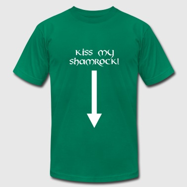 kiss my shamrock st. patrick´s day - Men's Fine Jersey T-Shirt