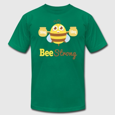 Motivational cartoon to bee strong - Men's Fine Jersey T-Shirt
