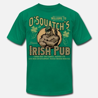 Irish Bar OSquatch's Irish Pub - Men's Jersey T-Shirt