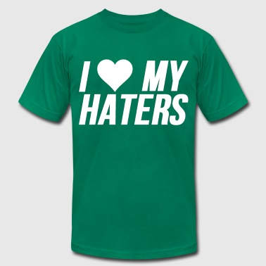 I Love My Haters (Heart) - Men's Fine Jersey T-Shirt