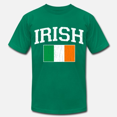 Belfast Vintage IRISH Flag - Men's  Jersey T-Shirt