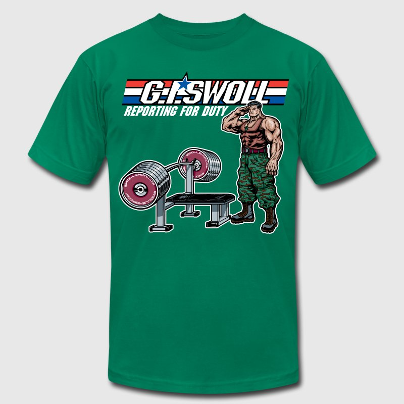 G.I. Swoll - Swoll Shop - Men's Fine Jersey T-Shirt