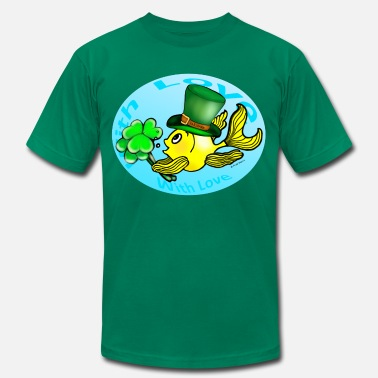 St Patrick Fish St Patricks Fish with Love, Goldfish , Fabspark , - Men's  Jersey T-Shirt