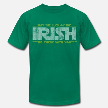 Patrick Funny St Patrick's Day May the Luck of the Irish  - Men's Fine Jersey T-Shirt