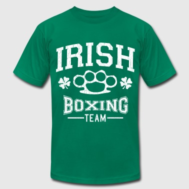Pog Irish Boxing Team (Distressed Design) - Men's Fine Jersey T-Shirt
