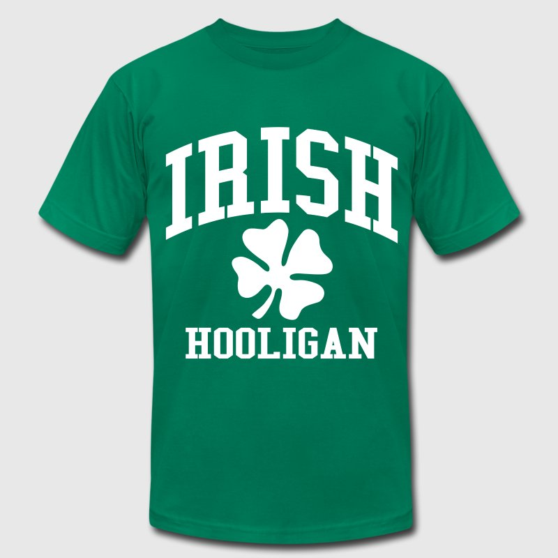 Irish Hooligan with Shamrock - Men's Fine Jersey T-Shirt