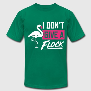 I Don't Give A Flock - Funny Pink Flamingo Pun - Men's Fine Jersey T-Shirt