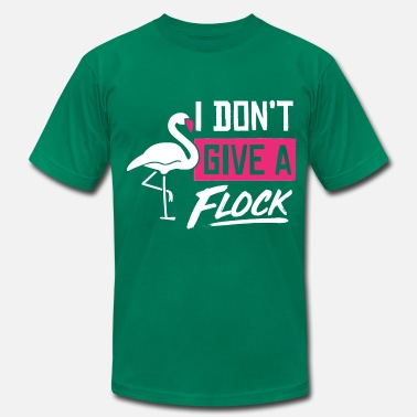 I Don't Give A Flock - Funny Pink Flamingo Pun - Men's Jersey T-Shirt