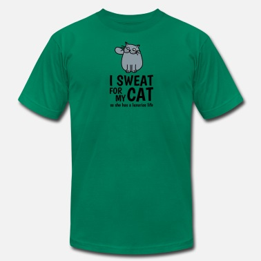 Motif Pussy I sweat for my cat - so she has a luxurious life - Men's Fine Jersey T-Shirt