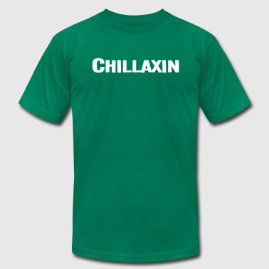 CHILLAXIN - White - Men's Fine Jersey T-Shirt