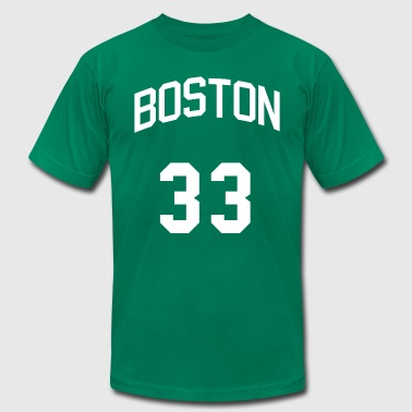 Jersey Number 33 Boston Bird Jersey - Men's Fine Jersey T-Shirt