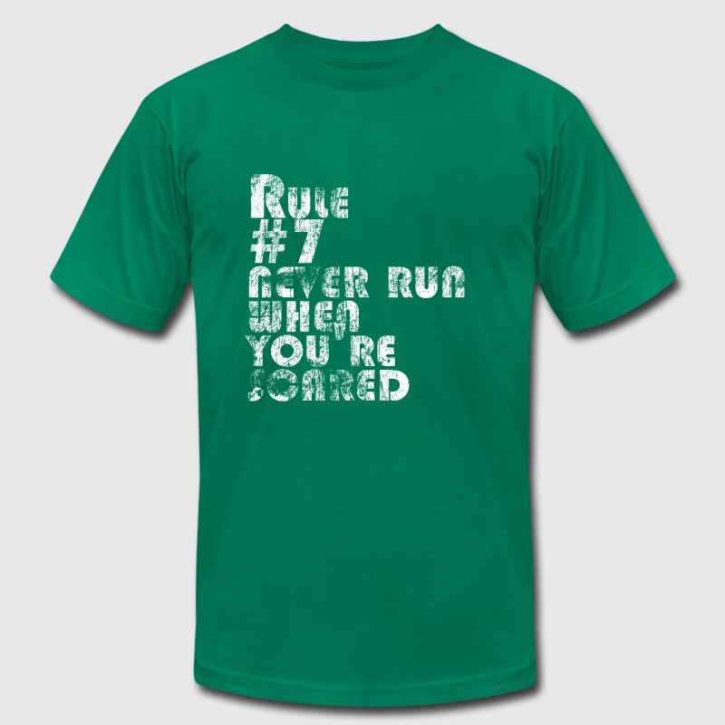 Rule # 7: Never Run When You're Scared | Robot Plunger - Men's Fine Jersey T-Shirt