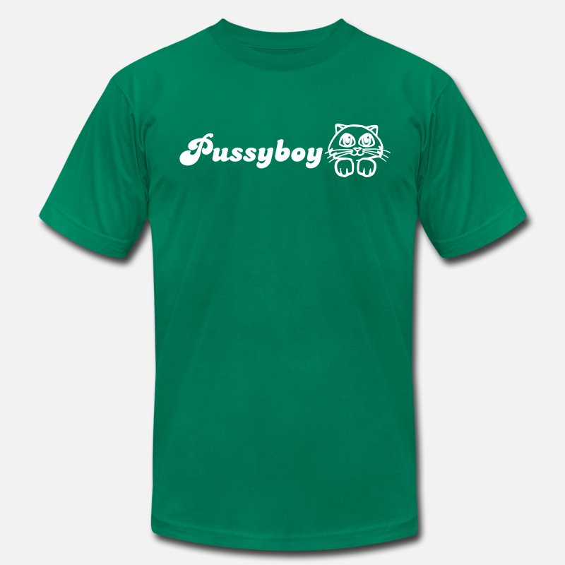 Bisexual T-Shirts - Pussyboy - Men's Jersey T-Shirt kelly green