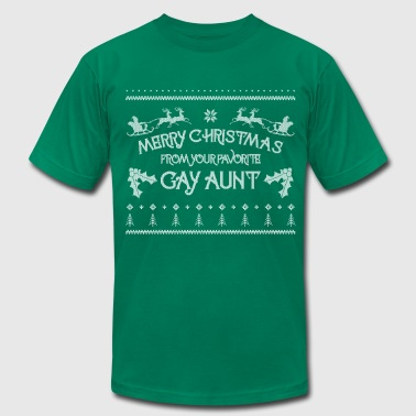 Merry Christmas From Your Favorite Gay Aunt LGBT  - Men's Fine Jersey T-Shirt