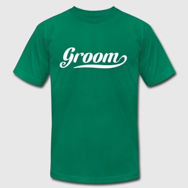 Groom Swoosh - Men's Fine Jersey T-Shirt