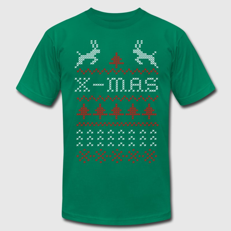 X-mas ugly sweater design for green - Men's Fine Jersey T-Shirt