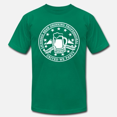 I Love New York Shamrock i heart love beer alcohol drinking party t-shirts - Men's  Jersey T-Shirt