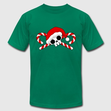 Santa Skull with Candy Canes - Men's Fine Jersey T-Shirt