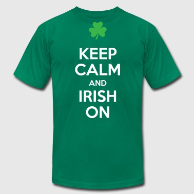 Keep Calm and Irish On - Men's Fine Jersey T-Shirt