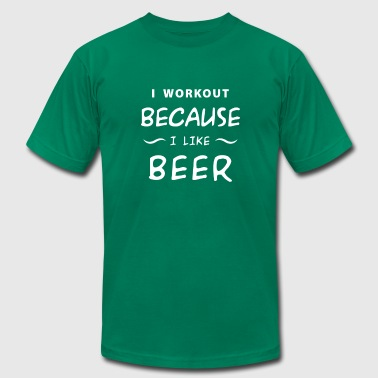 I run because i really like beer - Men's Fine Jersey T-Shirt