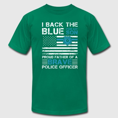 Proud father of a brave Police officer - Men's Fine Jersey T-Shirt