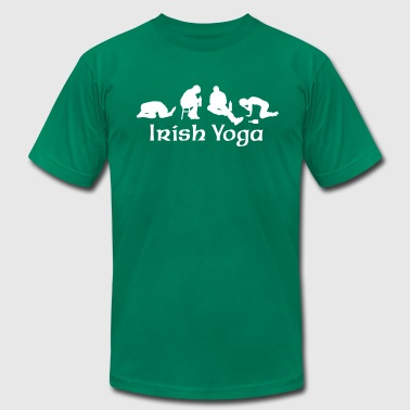 St Patricks Day Irish Yoga - Men's Fine Jersey T-Shirt
