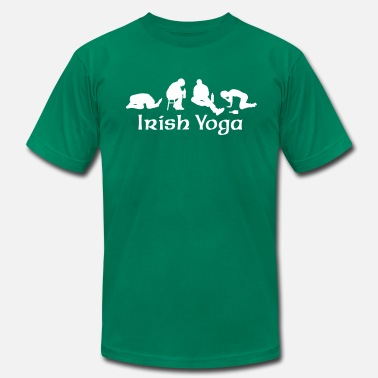 Drinking Irish Yoga - Men's  Jersey T-Shirt