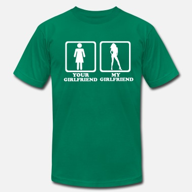 Canadian Girlfriend Girlfriend - Men's Fine Jersey T-Shirt
