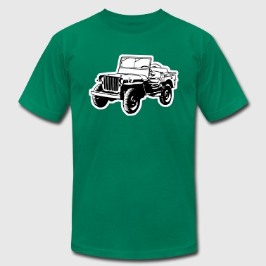 Willys Jeep (2 color) - Men's Fine Jersey T-Shirt