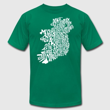 County Word Map Irish Celtic Apparel Clothing - Men's Fine Jersey T-Shirt