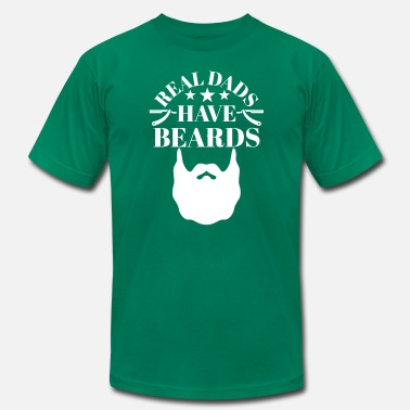 749452ef The Bearded Dad Real Dads have Beards - Men's Jersey T-