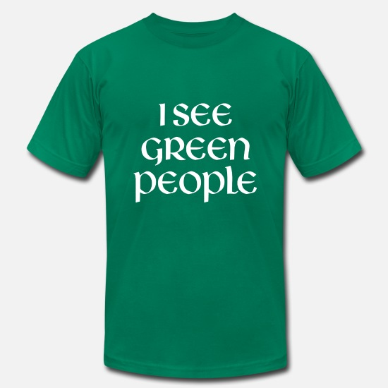 Drunk T-Shirts - I See Green People - Men's Jersey T-Shirt kelly green