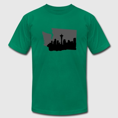 Seattle Skyline - Men's Fine Jersey T-Shirt