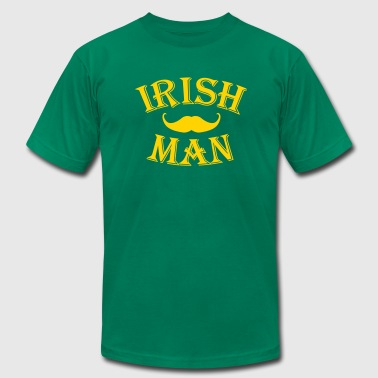 irish man / irish man mustache - Men's Fine Jersey T-Shirt