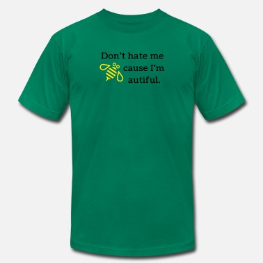 Conceited Don't hate me because I'm bee-autiful (YLW & BLK) - Men's Fine Jersey T-Shirt