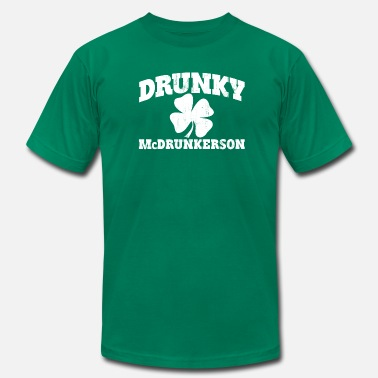 Funny Irish DRUNKY McDRUNKERSON - Men's Jersey T-Shirt