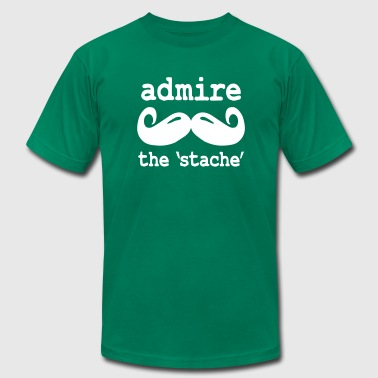 admire the stache - Men's Fine Jersey T-Shirt