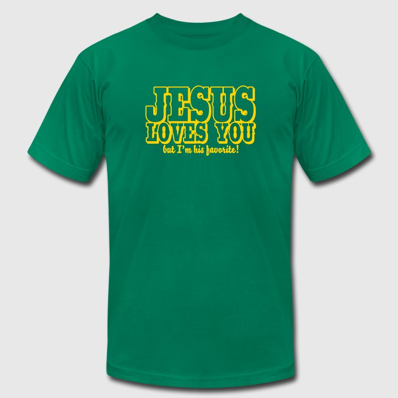 Jesus loves you but I'm his favorite! - Men's Fine Jersey T-Shirt