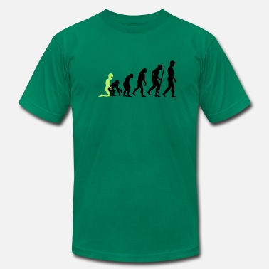 Scifi Alien - Human Evolution - Men's Jersey T-Shirt