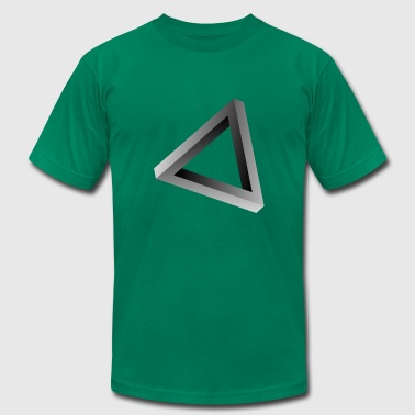 Impossible triangle visual optical illusion - Men's Fine Jersey T-Shirt