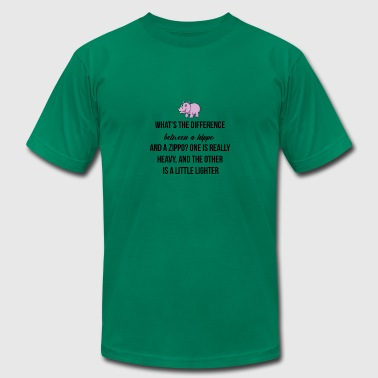 What is the difference between a hippo and a zipp - Men's Fine Jersey T-Shirt