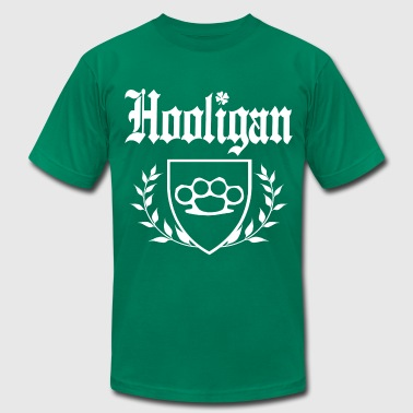 IRISH HOOLIGAN Brass Knuckle Crest - Men's Fine Jersey T-Shirt