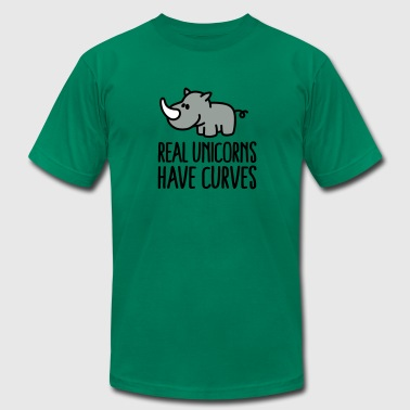 Rhino Real unicorns have curves - Men's Fine Jersey T-Shirt