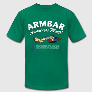 Jiu Jitsu Kids Armbar Awareness Month funny BJJ t-shirt - Men's Fine Jersey T-Shirt