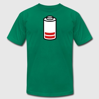 empty battery - Men's T-Shirt by American Apparel