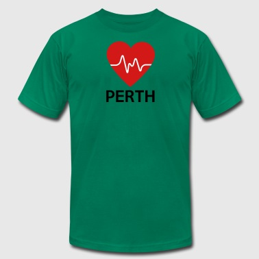 Heart Perth - Men's T-Shirt by American Apparel