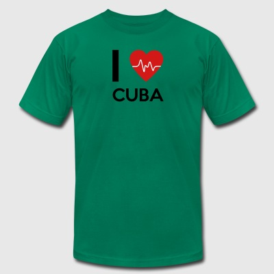 I Love Cuba - Men's T-Shirt by American Apparel