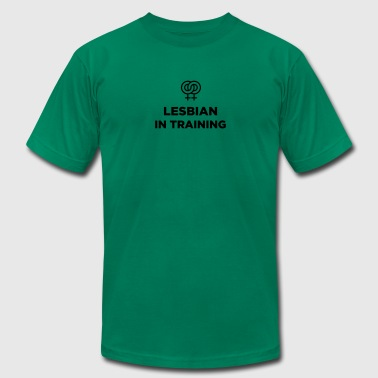 Lesbian in training - Men's Fine Jersey T-Shirt