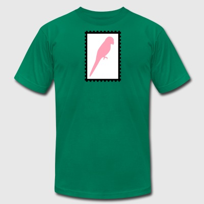 stamp with parrot - Men's T-Shirt by American Apparel